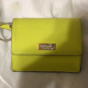 Small yellow Kate spade wallet
